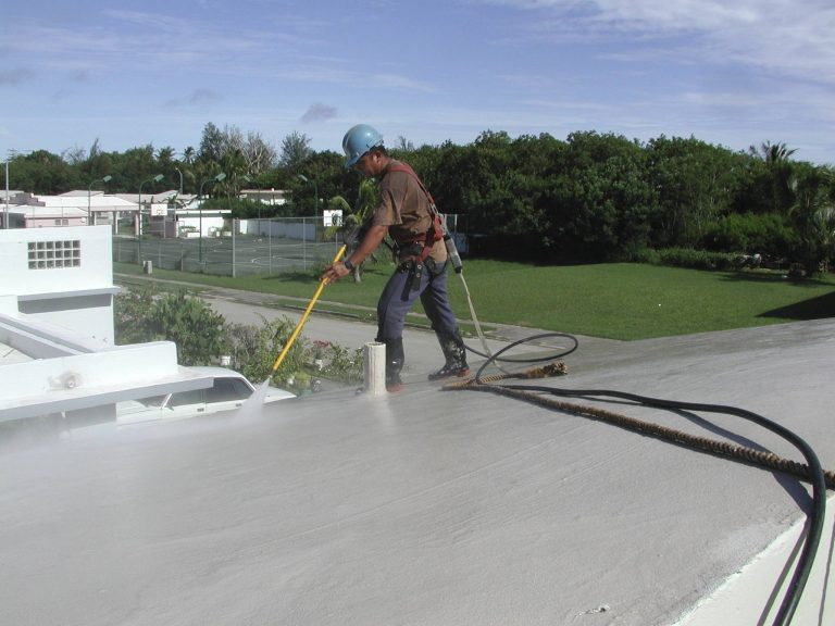 Pressure Washing Concrete Roof