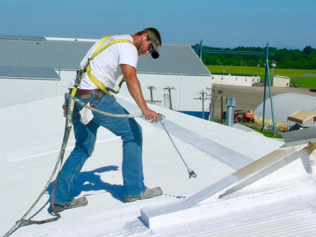Metal Roof Coating Application with Airless Sprayer
